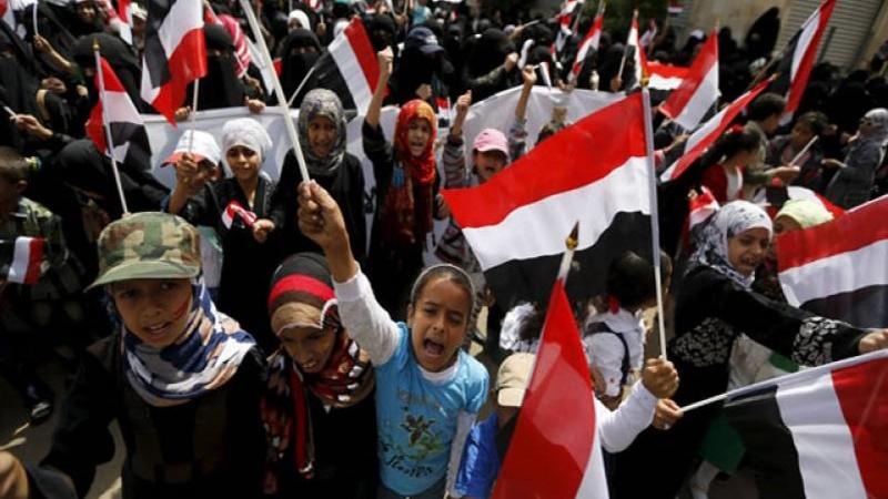 یمنی بچے بھی سڑکوں پر نکل آئے