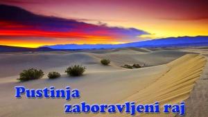 Pustinja zaboravljeni raj