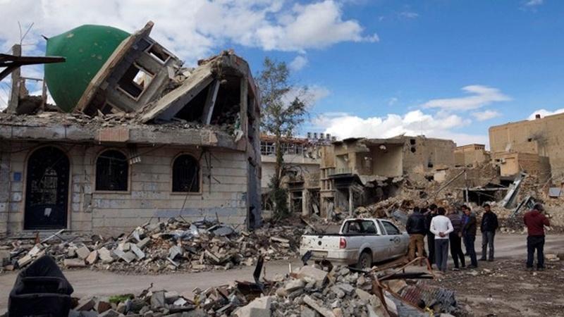شام ، ہجین میں ایک مسجد پر امریکی اتحاد کی بمباری
