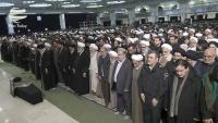 Ayətullah Haşimi Şahrudinin cənazə namazı İnqilab Rəhbərinin imaməti ilə qılındı