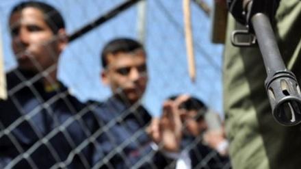 صیہونیوں کے تشدد کے خلاف فلسطینی قیدیوں کا احتجاج