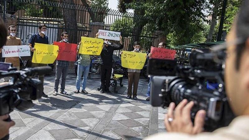 شیخ زکزکی کی حمایت میں تہران کی یونیورسٹیوں کے طلبا کی ریلی