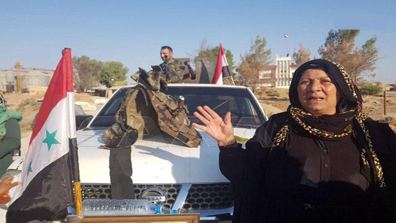 شام کے شمال مشرقی کرد علاقوں میں شامی فوج کا شاندار استقبال