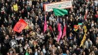 Tehran əhalisi iğtişaşçıların hərəkətlərini pisləmək üçün yürüş keçirib