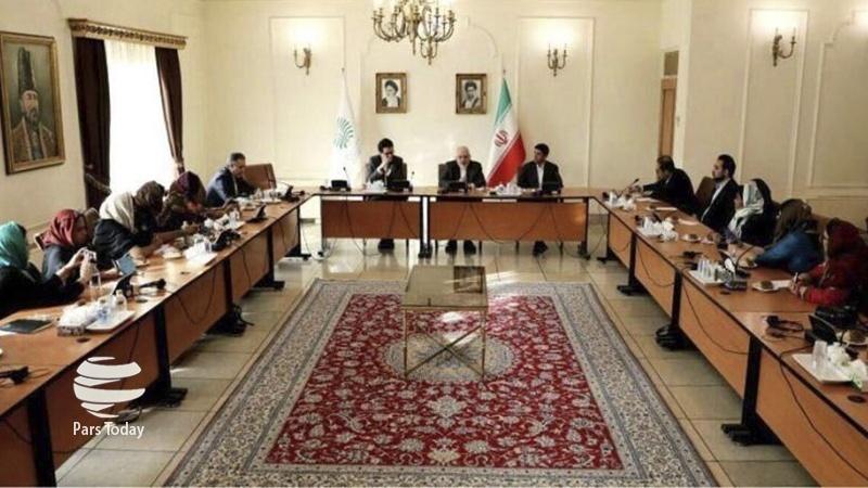 ایران کے وزیر خارجہ سے ہندوستانی صحافیوں اور قلمکاروں کی ملاقات