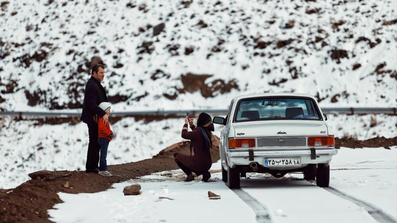 ایران کے شہر ہمدان میں موسم خزاں کی پہلی برفباری