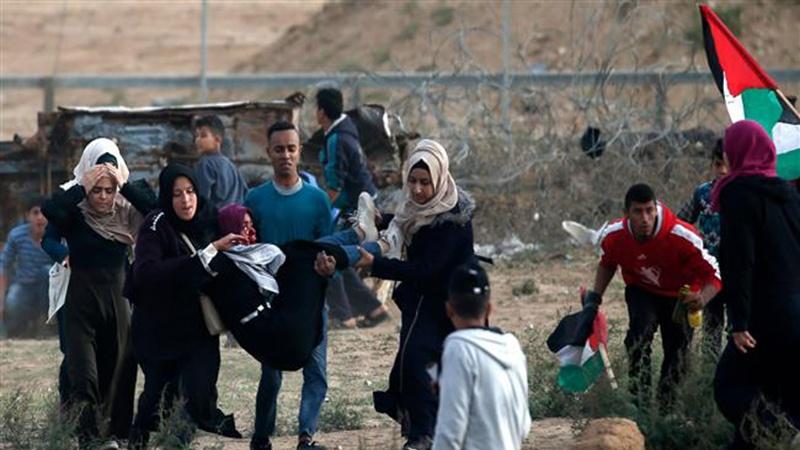 فلسطینیوں کے حق واپسی مارچ پر حملہ 37 فلسطینی زخمی