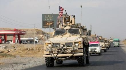 شام میں امریکی کانوائے پر پتھراو