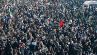 İran xalqının milyonluq iştirakı ilə general Soleymanin və onun şəhid silahdaşlarının cənazələri ilə vida mərasimi