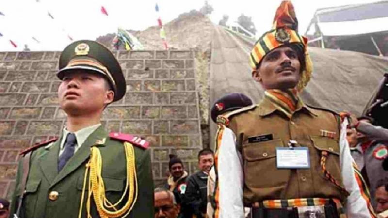 ہندوستان اور چینی فوجیں سرحد پر پیچھے ہٹنا شروع