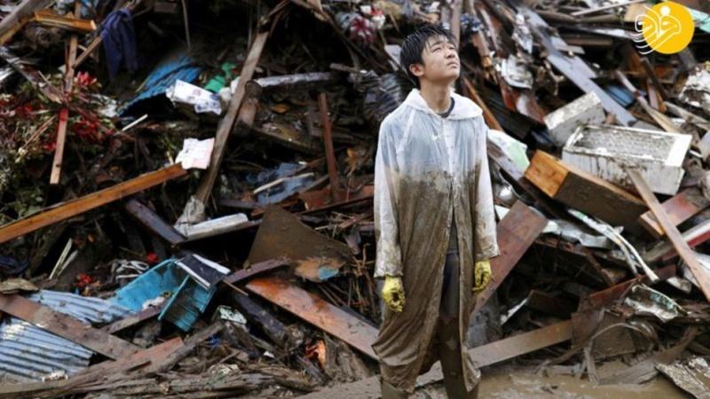 جاپان میں سیلاب کی تباہی ۔ تصاویر