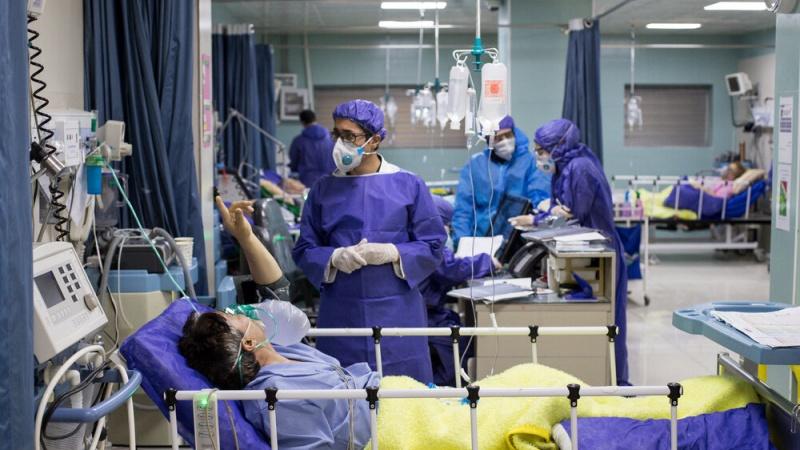 تہران کے ہاجر اسپتال میں کورونا کا مخصوص وارڈ