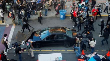 امریکہ میں نسل پرستی مخالف مظاہرین پر گاڑیوں سے 68 حملے