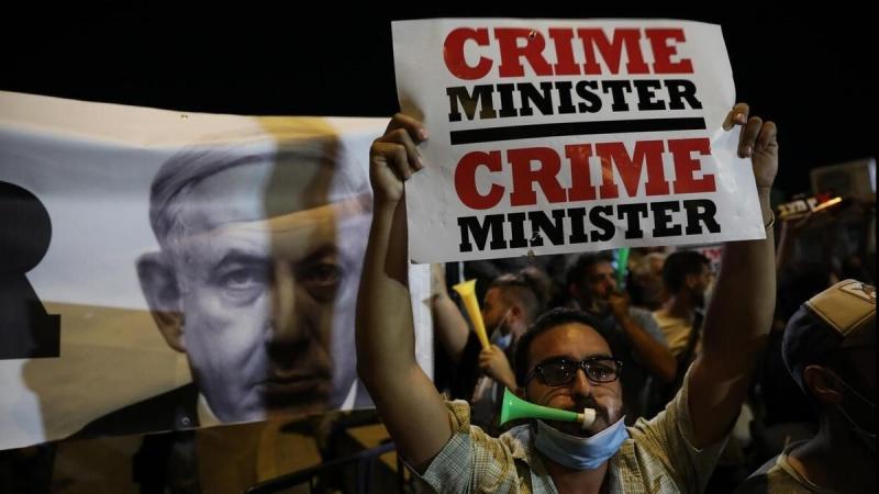 صیہونی وزیر اعظم نتن یاہو کے خلاف مظاہرے جاری، مستعفی ہونے کا مطالبہ
