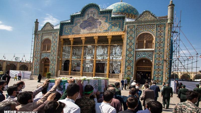 قزوین میں شہید محمد علیخانی کی تشییع جنازہ
