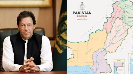 ہندوستان کے زیرانتظام کشمیر، پاکستان کے نقشے میں شامل
