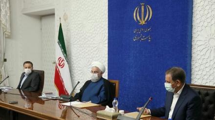 Ruhanî: Îranê di warê bêencamkirina komploya dijminan de serketî bûye