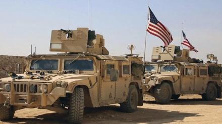 عراق میں امریکی دہشتگردوں کے راستے میں دھماکہ