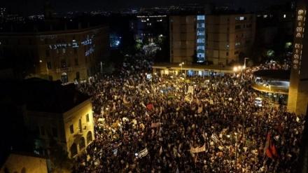 اسرائیلی وزیر اعظم نتن یاہو کے خلاف احتجاج جاری