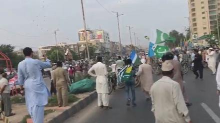 پاکستان میں کشمیریوں سے یکجہتی کی ریلی پر بم حملے میں درجنوں زخمی