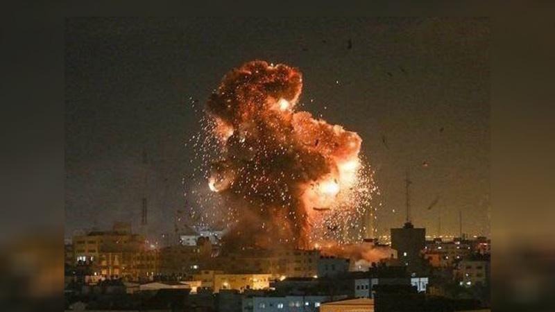 Sionist rejim bir daha Qəzzəyə hücum edib