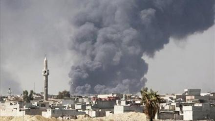 یمنی عوام کا مظاہرہ اور سعودی اتحاد کی بمباری