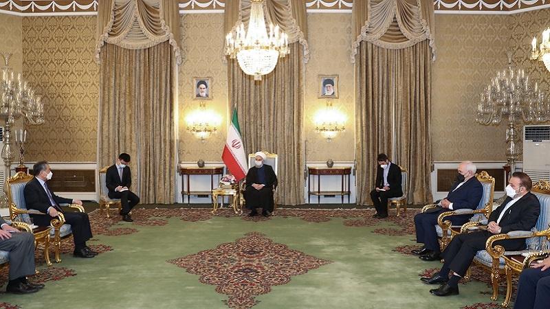 چین کے ساتھ تعلقات ایران کے لئے اسٹریٹیجک اہمیت کے حامل ہیں : صدر حسن روحانی