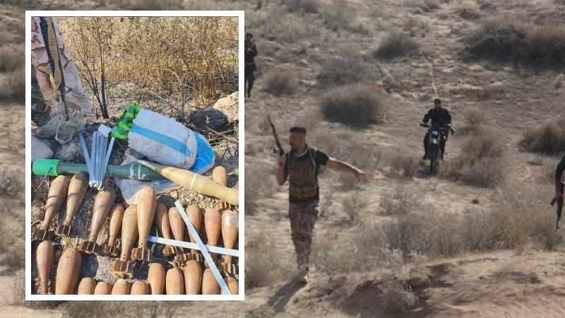 عراقی صوبوں میں دہشت گردوں کے ہتھیاروں کا انکشاف
