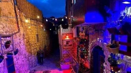 Qüds sakinləri Ramazan ayı ərəfəsində şəhəri rəngli işıqlarla bəzədi+Video