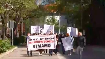 Protesti zdravstvenih radnika u Mostaru