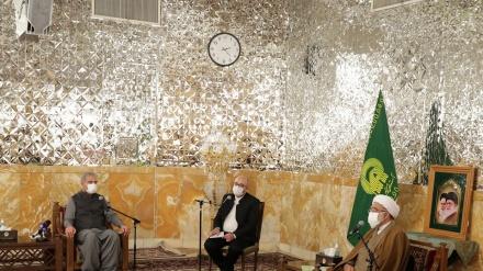 روضہ رضوی کے متولی سے پاکستانی وزیر خارجہ کی ملاقات