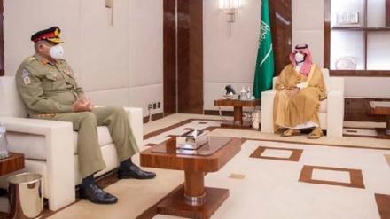 پاکستان کے آرمی چیف کی سعودی ولیعھد سے ملاقات