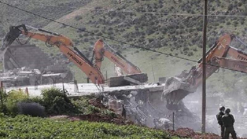 Sionistlər qərb sahilində 25 fələstinli evini dağıdıblar