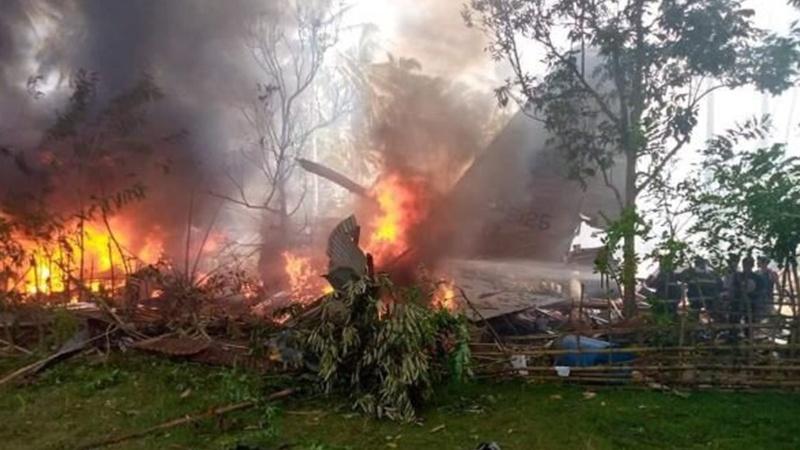 فلپائن میں فوجی طیارہ تباہ، ہلاکتیں 45 ہو گئیں