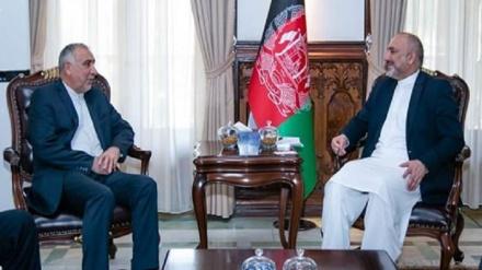 ایران اور افغانستان کے وزرائے خارجہ کے درمیان صلاح و مشورہ