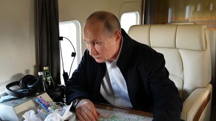 Putin yanğına məruz qalmış bölgələrə səfər edib