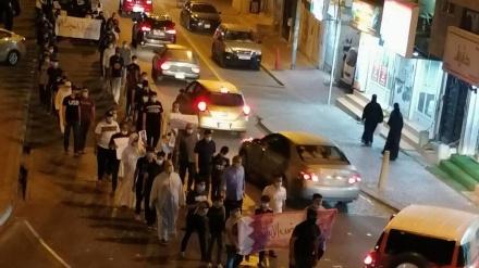 سیاسی قیدیوں کی رہائی کے لئے بحرینیوں کے پرامن مظاہرے