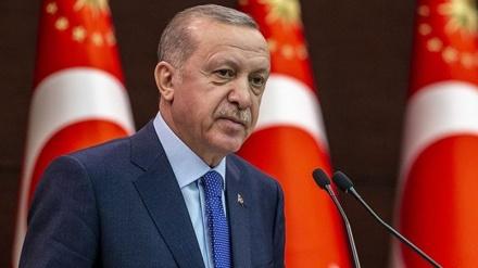ترکی کے صدر نے کی آیت الله سیدابراہیم رئیسی کی قدردانی