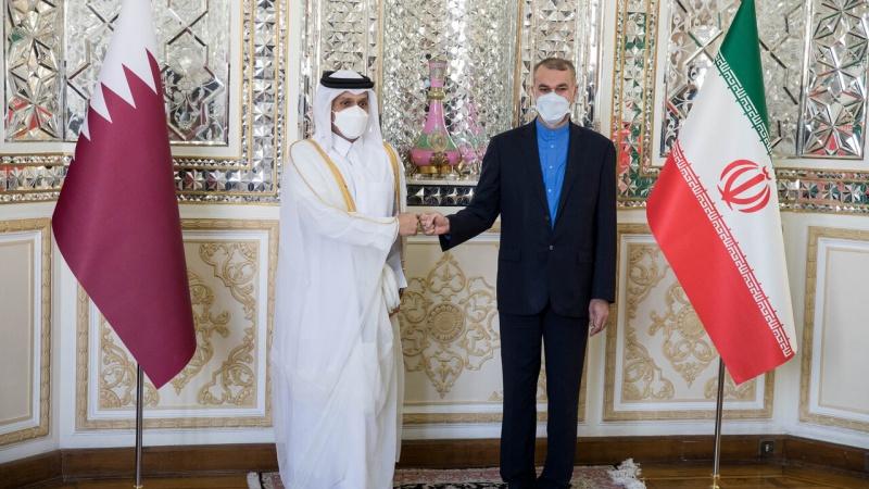 تہران میں ایران اور قطر کے وزراء خارجہ کی ملاقات
