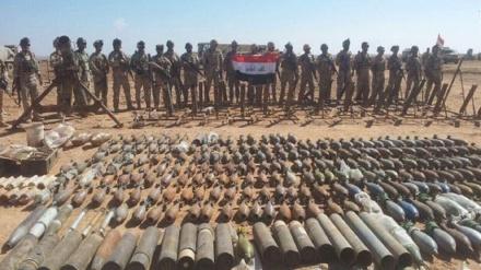 عراق میں ایک اور داعشی منصوبہ ناکام، بڑی مقدار میں گولہ بارود برآمد