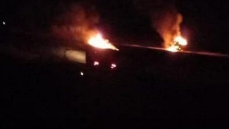 عراق-شام کی سرحد پر ہوائی حملہ، عراقی رضاکار فورس حشد الشعبی کی دو گاڑیاں تباہ