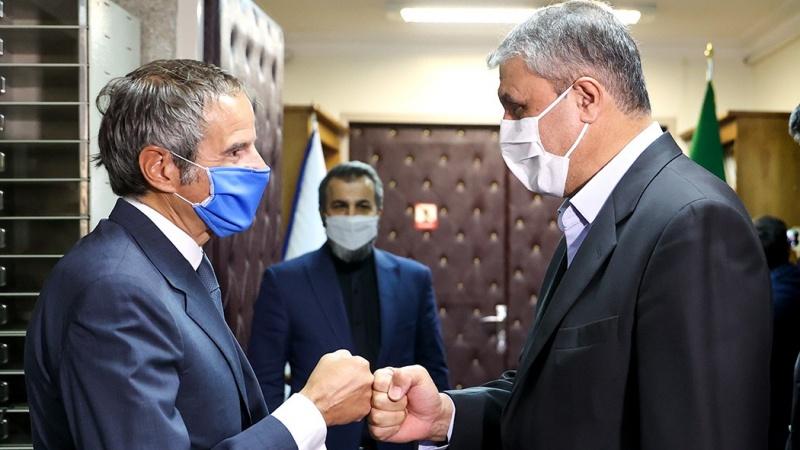 جوہری توانائی کی عالمی و ایرانی ایجنسیوں کے سربراہوں کی ملاقات