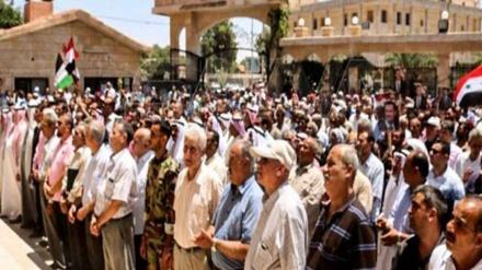 شامی قبائل نے امریکی دہشتگردوں بالمقابل کھڑے ہونے کا اعلان کیا