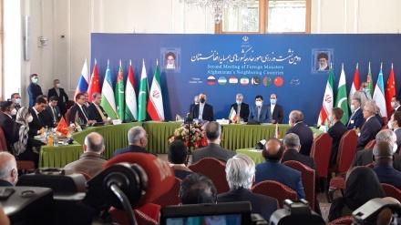تہران میں افغانستان سے متعلق بین الاقوامی اجلاس، وسیع البنیاد حکومت کی تشکیل اور افغان عوام کی مدد کی ضرورت پر سبھی کا اتفاق