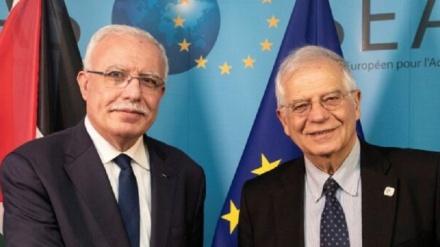 فلسطینی وزیر اعظم اور یورپی یونین کے نمائندے کی ملاقات